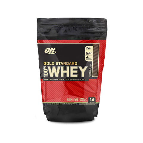 Optimum Nutrition Gold Standard 100% Whey Protein Powder, Double Rich Chocolate, 454 Grams-Curavita