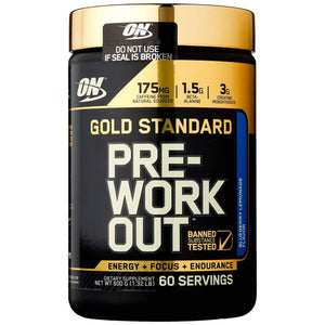 Optimum Nutrition Gold Standard Pre Workout, Blueberry Lemonade - 600 Grams-Curavita
