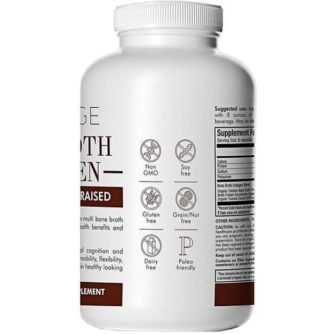 Image of Organic Multi Bone Broth Collagen Capsules - Code Age-Curavita