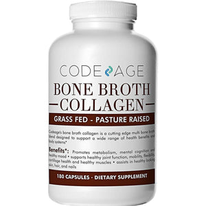 Organic Multi Bone Broth Collagen Capsules - Code Age-Curavita