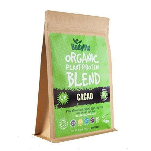 BodyMe Organic Vegan Protein Powder Blend - Raw Cacao 1kg-Curavita