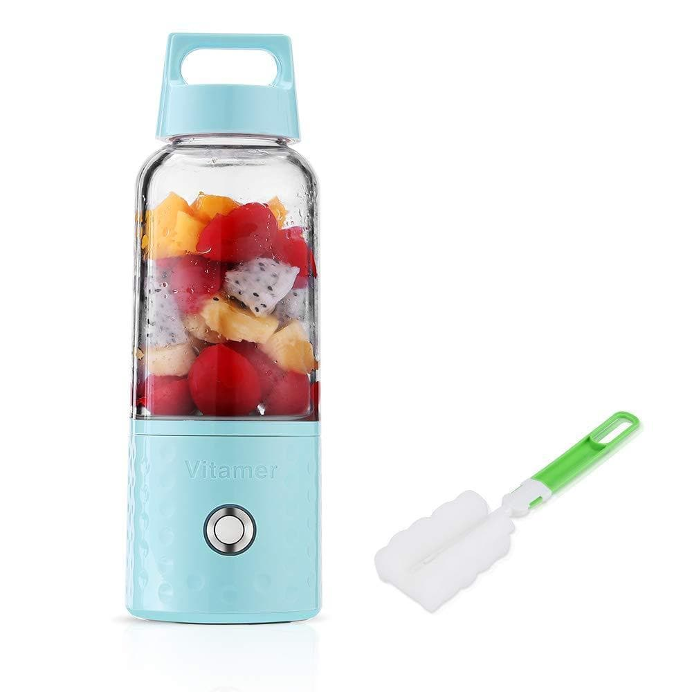 Portable Rechargeable Juice Blender, Household Fruit Mixer, Huafly Personal Blender 500ml USB Juicer Cup for Home, Outdoors and Travelling-Curavita