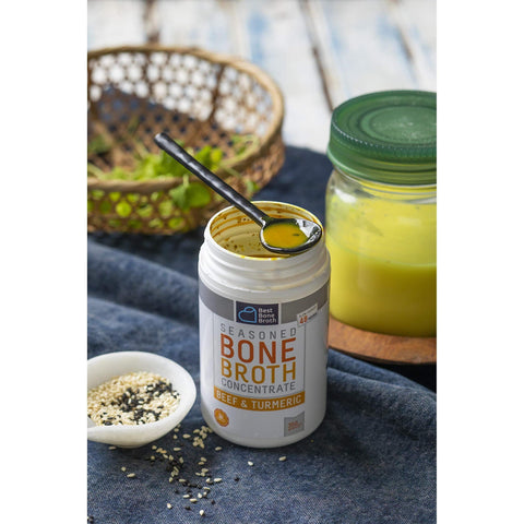 Image of Premium Beef Bone Broth Concentrate Turmeric Flavor-Curavita