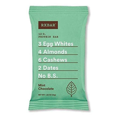 RX Bar Protein Bar, Mint Chocolate 1.83oz (pack of 12)