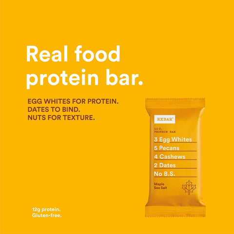 Image of RXBAR Whole Food Protein Bar, Maple Sea Salt, 1.83oz Bars, 12 Count