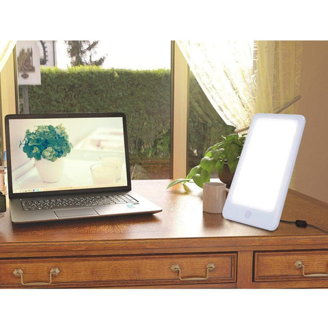 Image of SAD Light Therapy Lamp, 10000 Lux Full Spectrum Bright Light White LED-Lim-Curavita