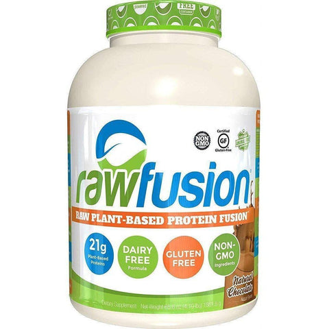 SAN Nutrition Raw Fusion Plant Based Protein Fusion - Natural Chocolate - 1.837kg-Curavita