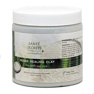SANTÉ SECRETS Indian Healing Clay, 1 lb - 100% Natural and Pure Bentonite Clay-Curavita