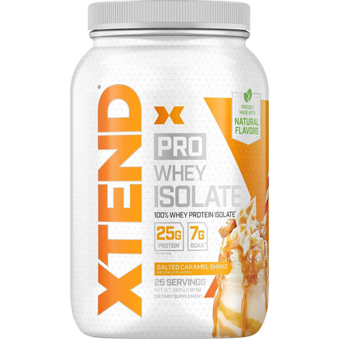 Image of Scivation Xtend Pro, 100% Whey Protein Isolate Powder, Salted Caramel Shake, 823g-Curavita