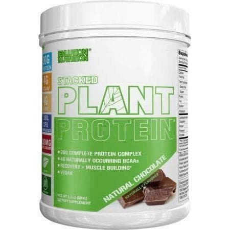 Stacked Plant Protein Powder, Vegan, Non-GMO (Natural Chocolate)-Curavita