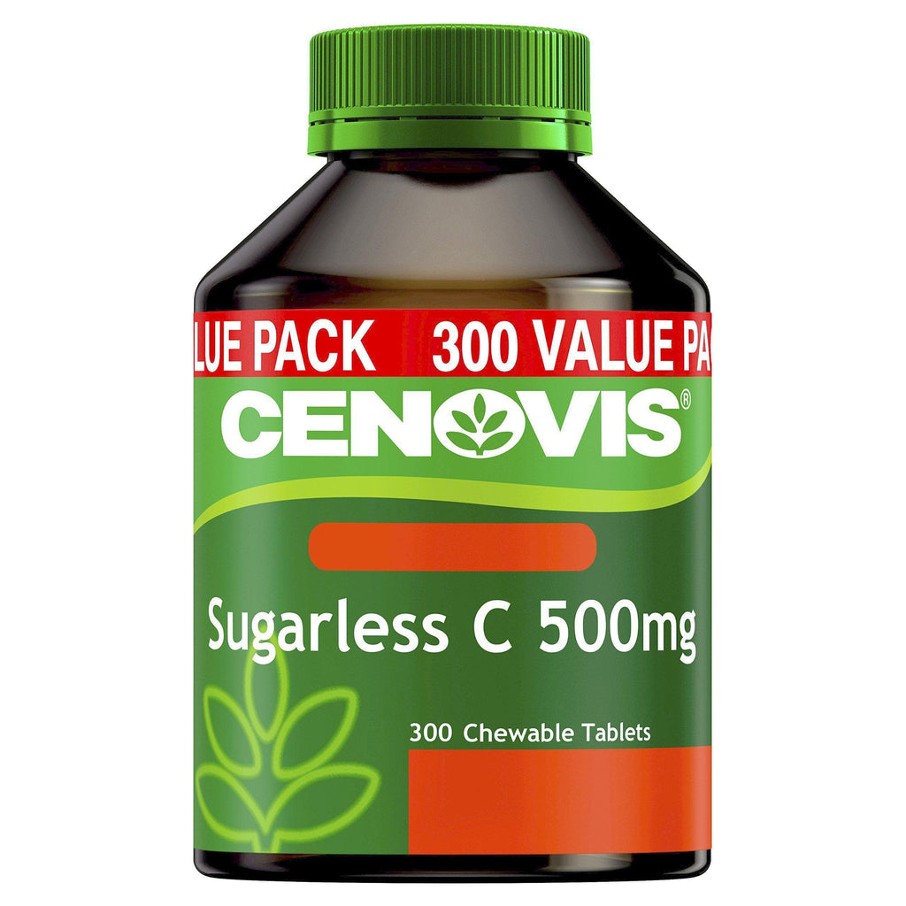 Sugarless C 500mg - Chewable Vitamin C Tablets - Relieve the severity of common cold symptoms