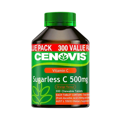 Image of Sugarless C 500mg - Chewable Vitamin C Tablets - Relieve the severity of common cold symptoms