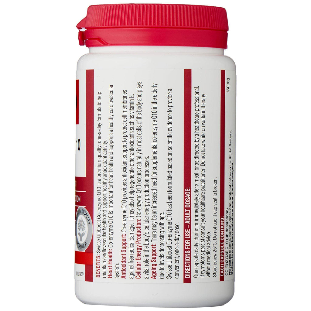 Swisse Ultiboost Co Enzyme Q10 150Mg 180 Capsules-Curavita