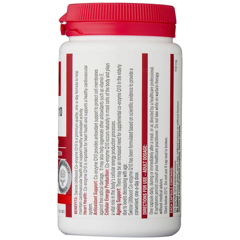 Image of Swisse Ultiboost Co Enzyme Q10 150Mg 180 Capsules-Curavita