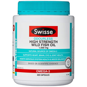 Swisse Ultiboost High Strength Odrls Wild Fish Oil 1500Mg 400 Capsules