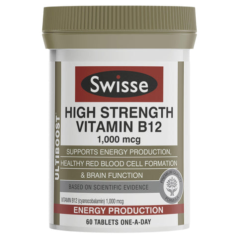 Image of Swisse Ultiboost High Strength Vitamin B12 60 Tablets