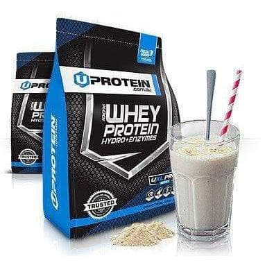 Uprotein 100% Whey Protein Hydro + Enzymes - 4kg Choc Brownie-Curavita
