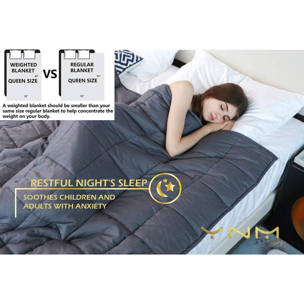 Weighted Blanket by YnM for Adults (7.7kg for 72.5kg Individual)
