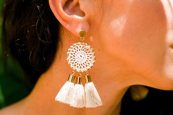 Dream Catcher Handmade Crocheted Earrings