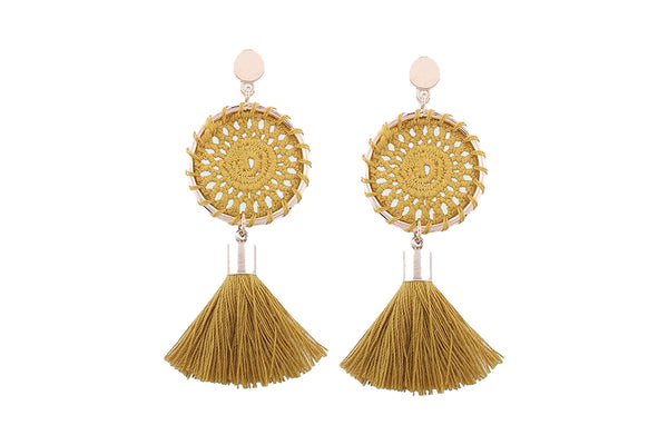 Fringe Dream Catcher Dangle Earrings