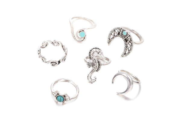 Horse Moon Midi Ring Pack