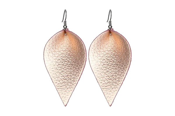Leaf Statement Drop Earrings