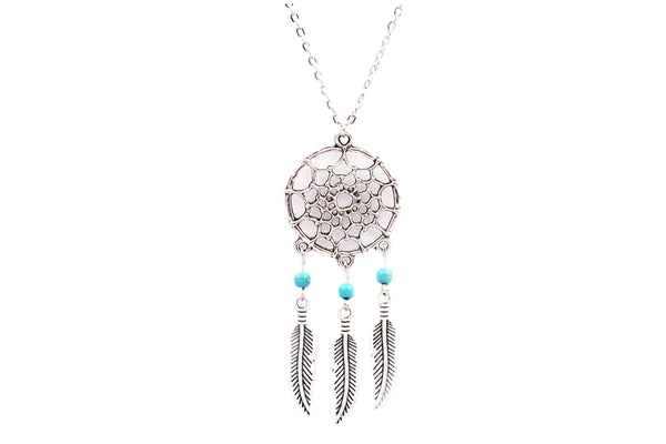 Dream Catcher Necklace - Turquoise