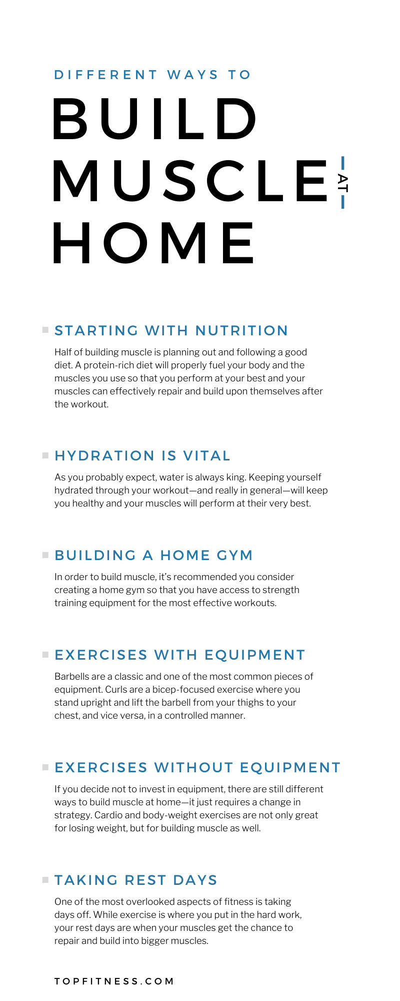 Different Ways To Build Muscle at Home