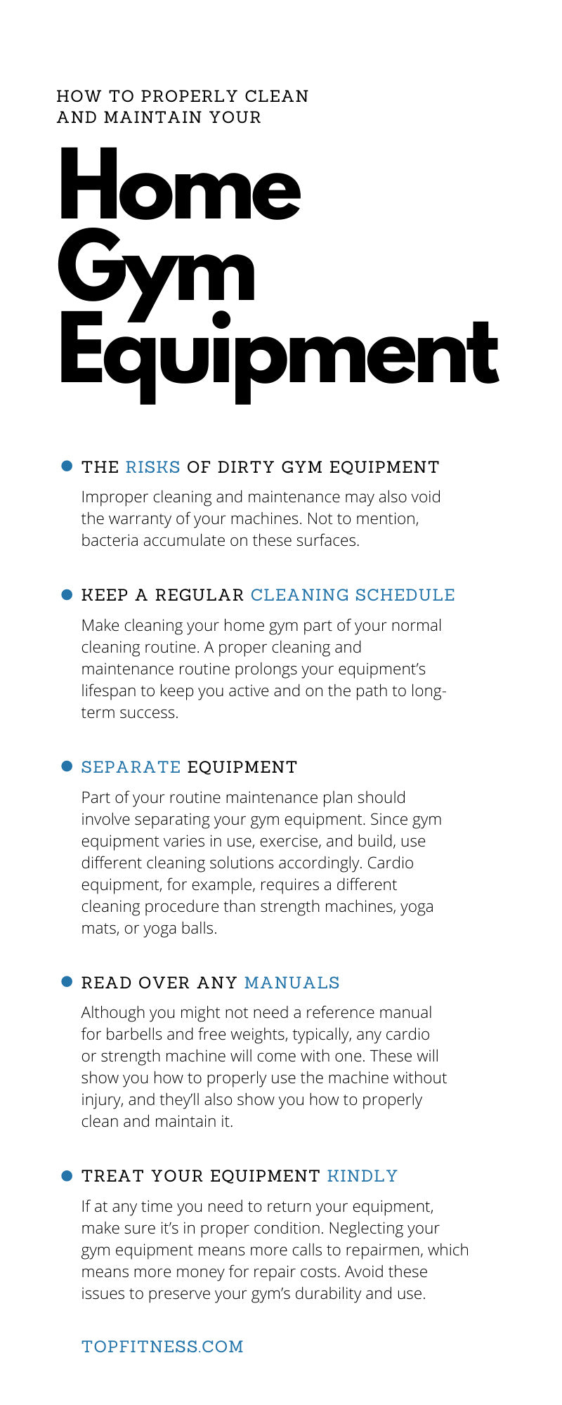 How to Properly Clean and Maintain Your Home Gym Equipment