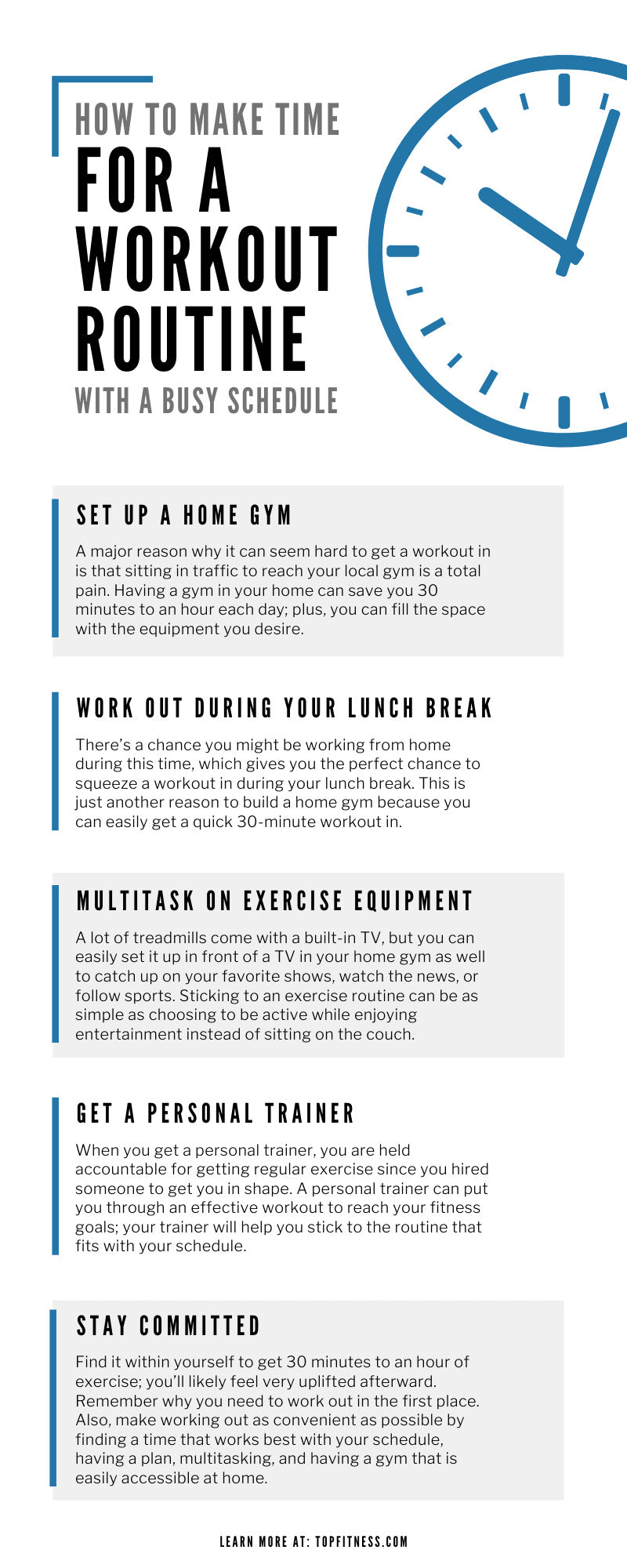 How to Make Time for a Workout Routine With a Busy Schedule
