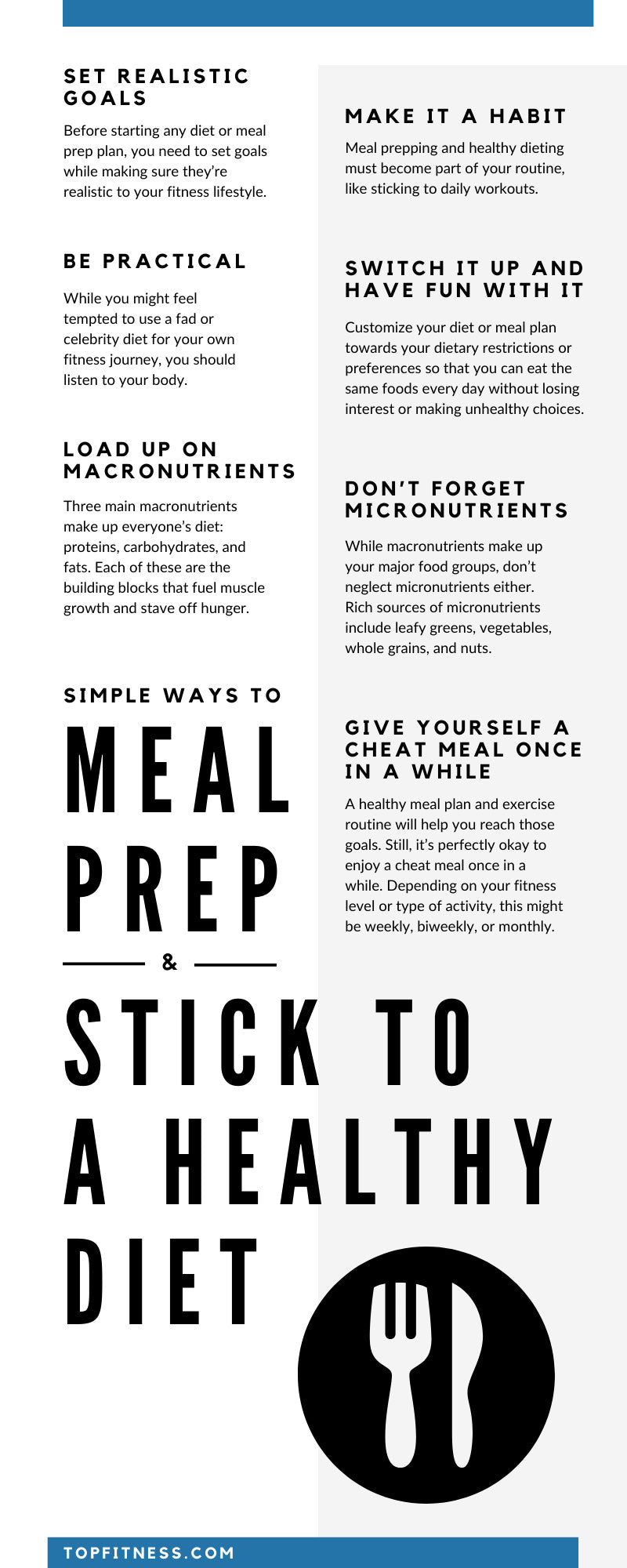Simple Ways to Meal Prep & Stick to a Healthy Diet