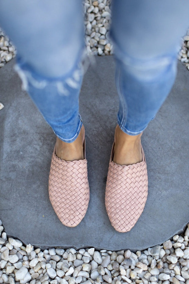 Nyah Woven Mules Blush WIDE FIT