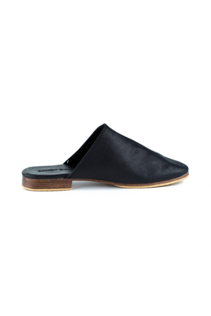 Georgie Slides Black WIDE FIT