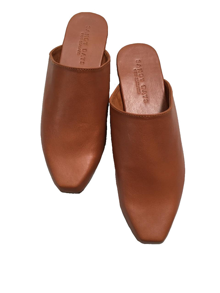 Georgie Square Toe Mules WIDE FIT