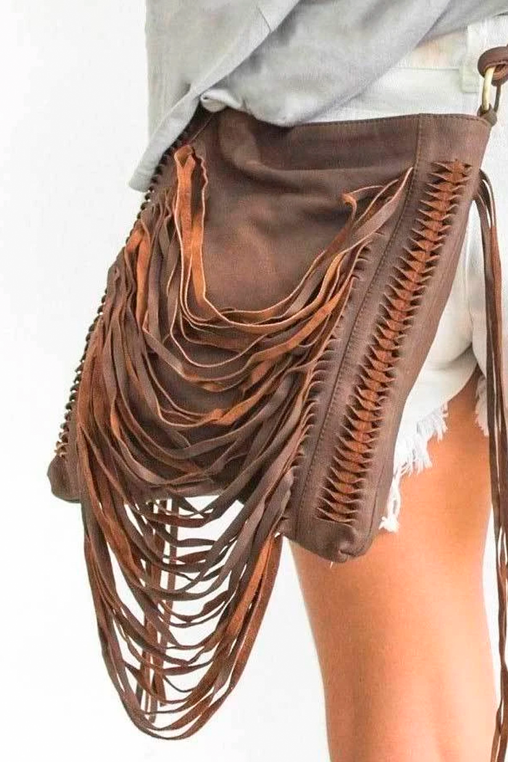 Lana Fringe Bag Antique Brown