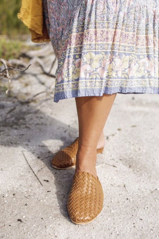 Nyah Woven Mules Tan WIDE FIT