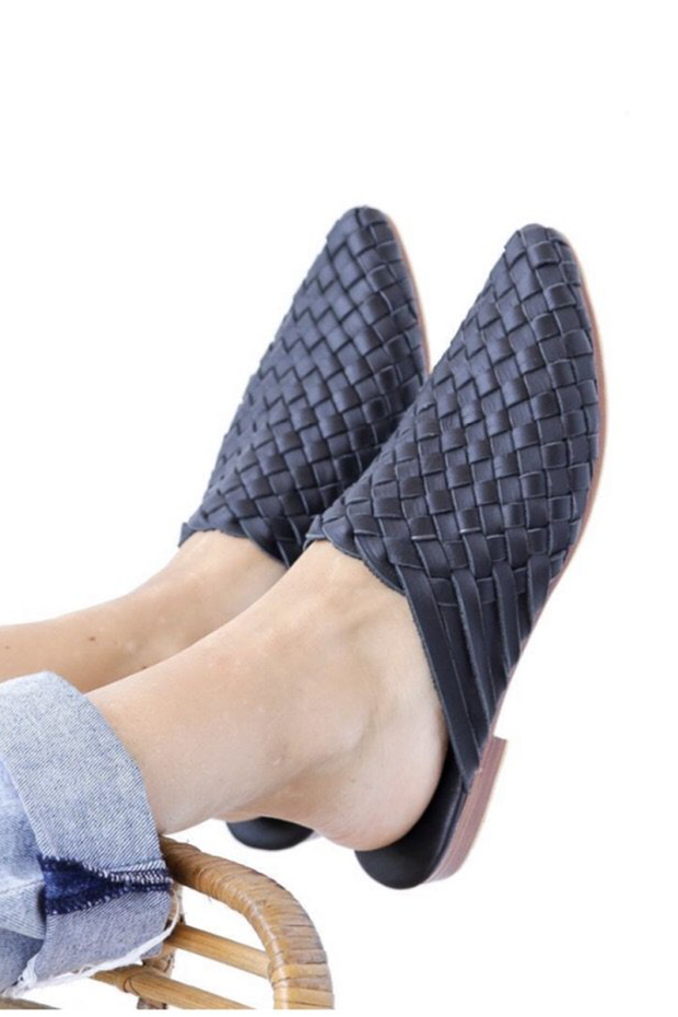 Nyah Woven Mules Black WIDE FIT