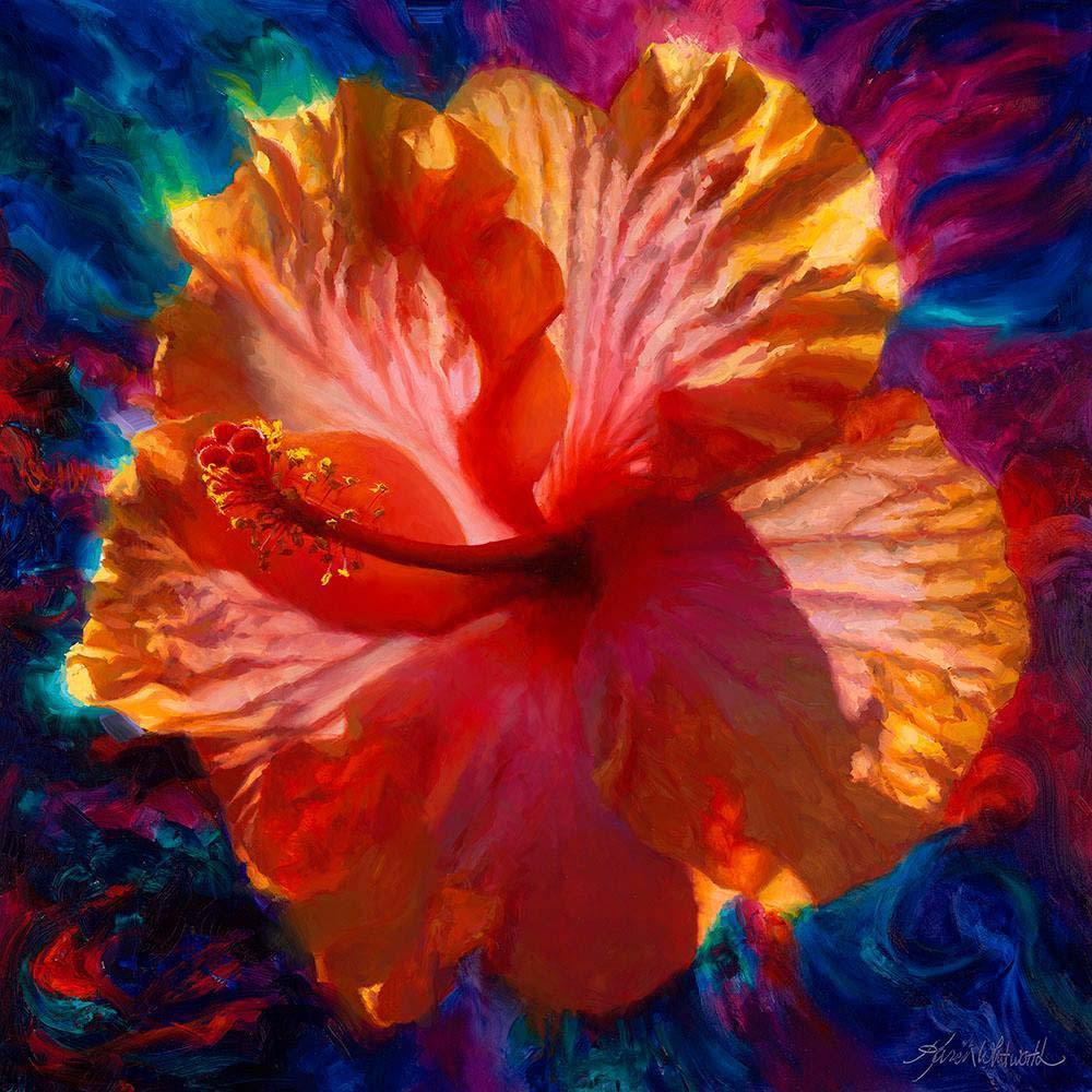 list of top 5 Hawaiian tropical flowers by Hawaii artist Karen Whitworth