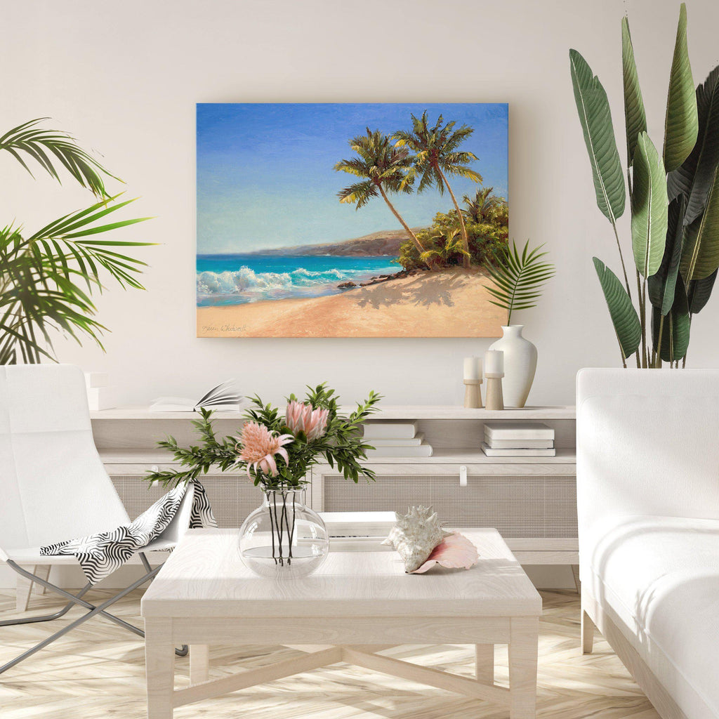 Palm Trees and Beach Vibes - Tropical Decor Beach House Inspiration