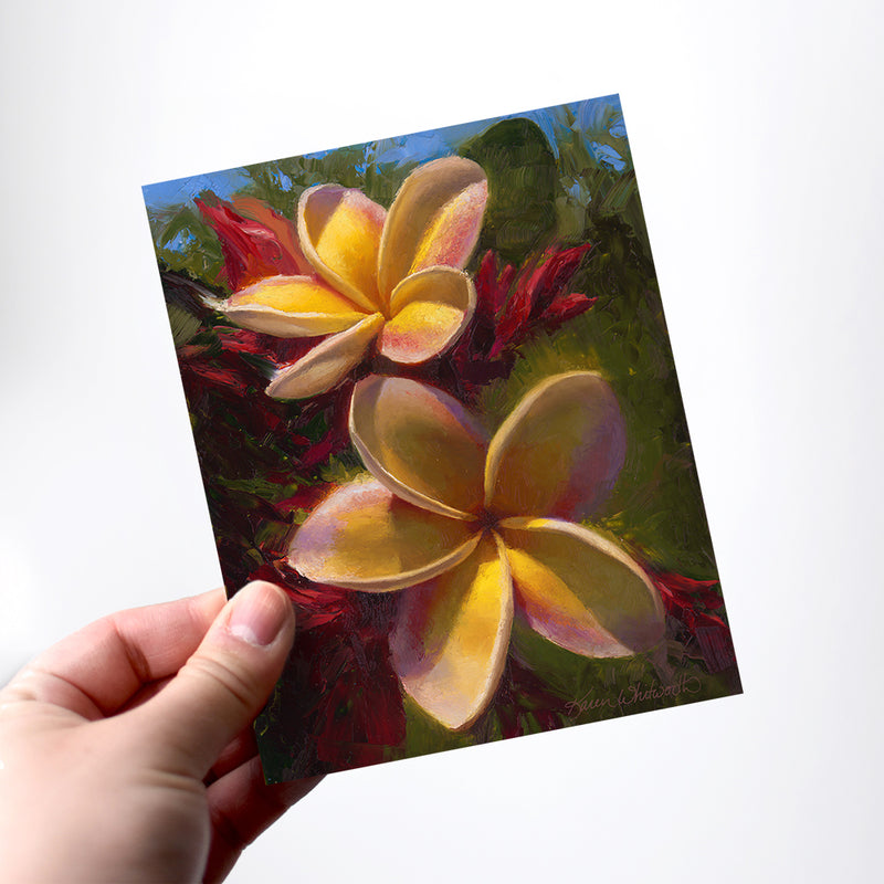 Hawaiian souvenir greeting cards and stationery with Hawaiian art
