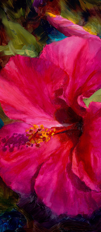 tropical pink hibiscus flower by Hawaii floral artist Karen Whitworth