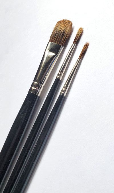 Artist Paint brushes on white