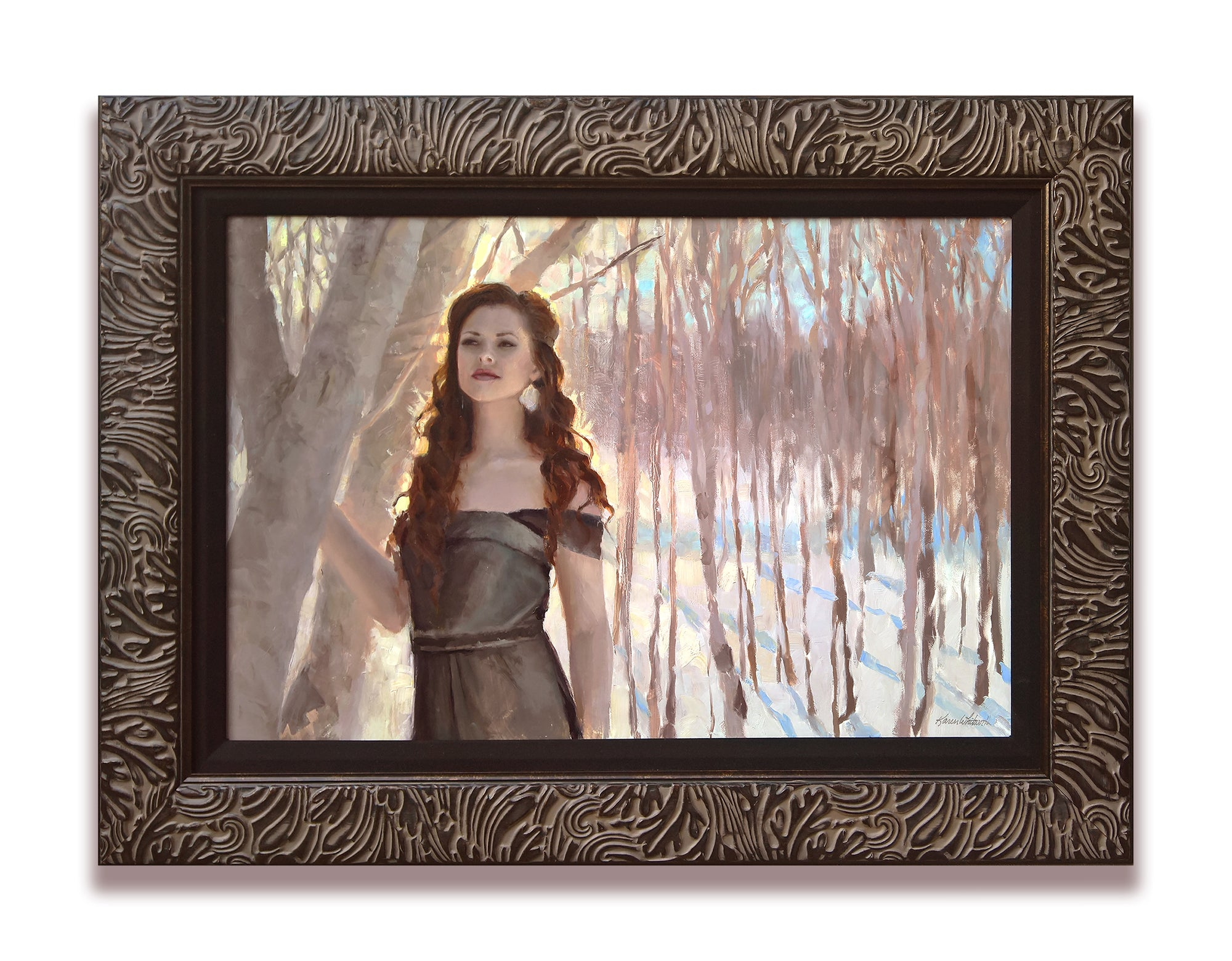 Custom Portrait Painting by Award Winning Portrait Artist Karen Whitworth