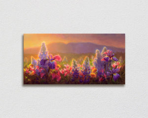 Sleeping Lady Alaska Landscape Canvas Painting