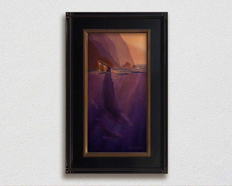 Echoes of Light - Signed Artist Canvas of Hawaiian Humpback Whales by Karen Whitworth