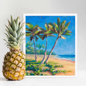 Paradise Palms - Tropical Beach Art Print