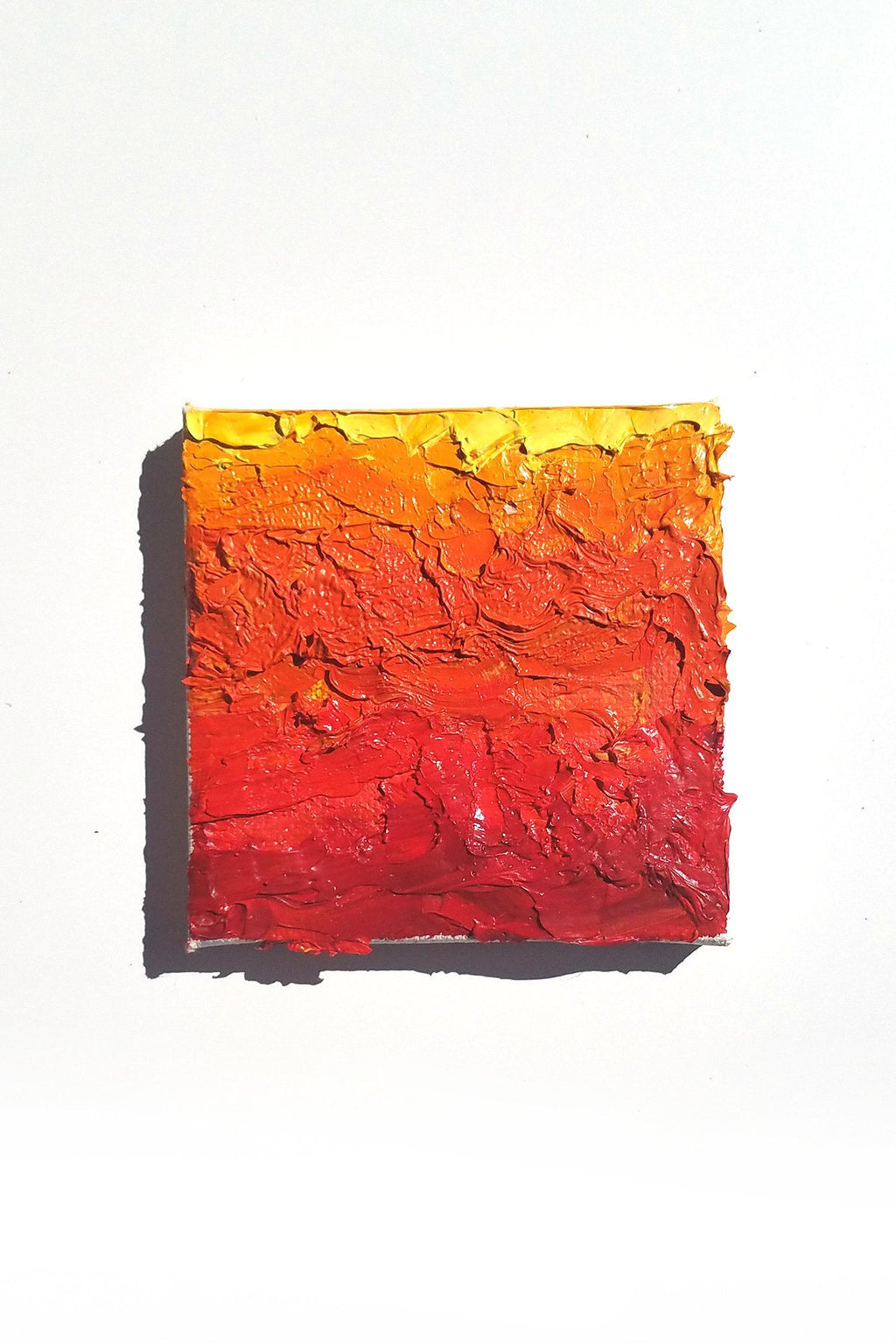 Yellow Orange Red Abstract Contemporary Original Oil Painting by Karen Whitworth - Art of Karen Whitworth
