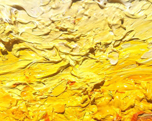 Contemporary Yellow Abstract Original Oil Painting by Karen Whitworth - Art of Karen Whitworth