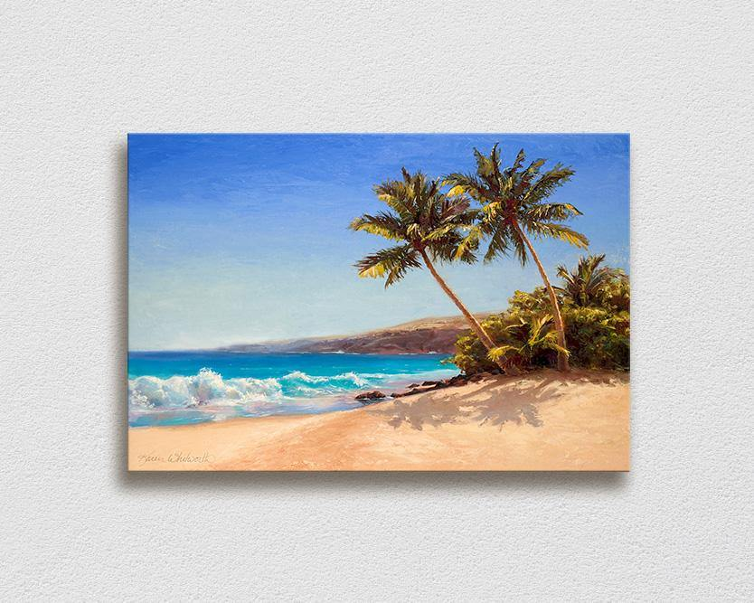 A Palm Tree Painting That Feels Like A Day At The Beach Beach In Hawaii