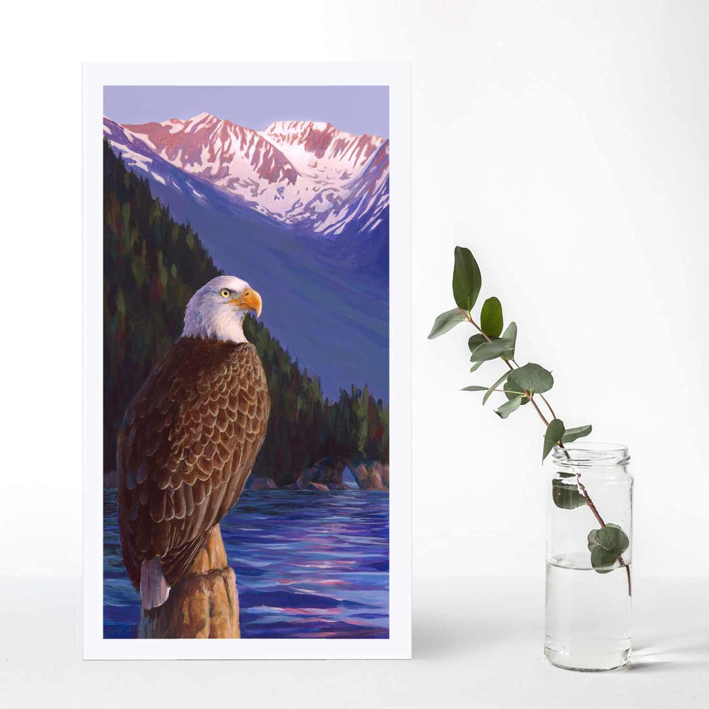 "American Eagle Art Print- Symbol of Freedom ""Sunset On The Sound"""